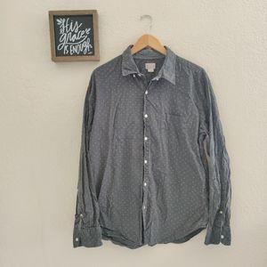 J. Crew 💙 Men's Button Down Shirt Top Printed